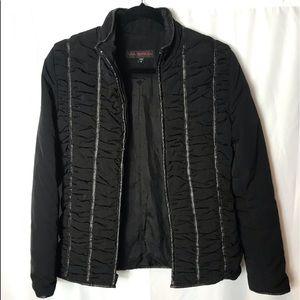 Black via spiga zip jacket
